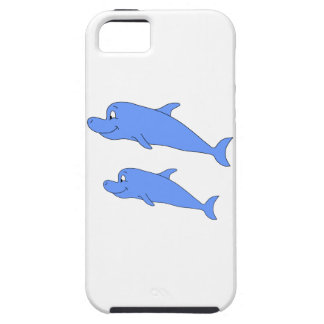 Dolphins in blue. iPhone 5 cover