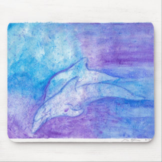 Dolphins In Blue Mouse Pad