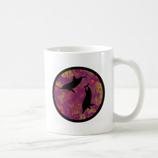 DOLPHINS IN LOVE CLASSIC WHITE COFFEE MUG