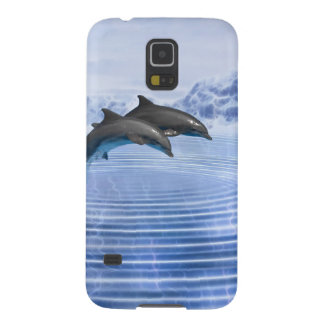 Dolphins in the clear blue sea case for galaxy s5