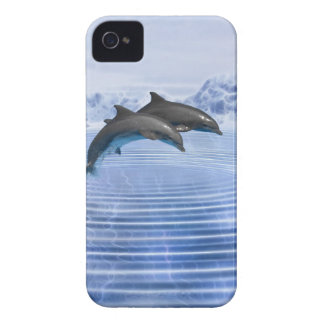Dolphins in the clear blue sea iPhone 4 case