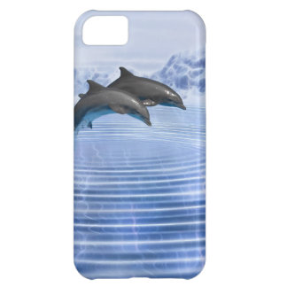 Dolphins in the clear blue sea iPhone 5C cover