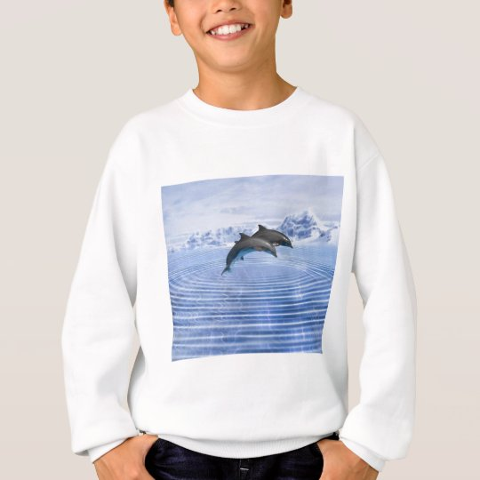 Dolphins in the clear blue sea sweatshirt