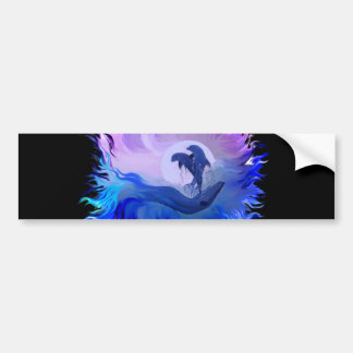 Dolphins in the Moonlight Bumper Sticker