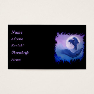 Dolphins in the moonlight business card