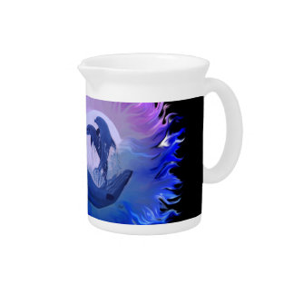Dolphins in the Moonlight Drink Pitcher