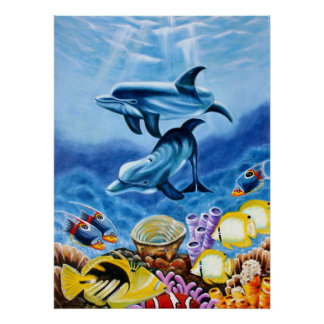 Dolphins In the Ocean Poster