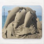Dolphins In The Sand Mousepad