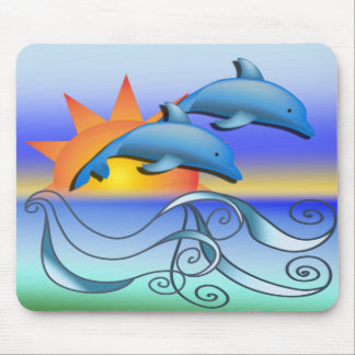 Dolphins in the Sun Mouse Pad