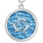 Dolphins in Water Pendant