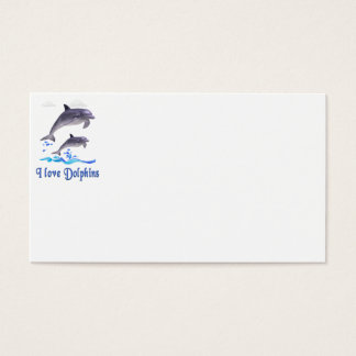 Dolphins items business card