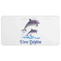 Dolphins items license plate