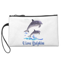 Dolphins items wristlet wallet