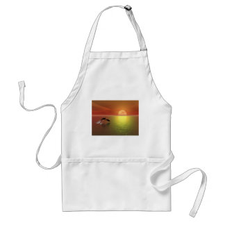 dolphins jumping ocean sunset adult apron