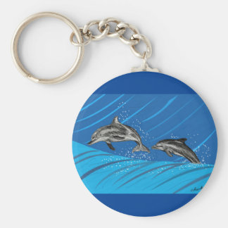 Dolphins Jumping out of the Sea Keychain