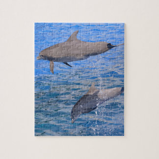 Dolphins jumping out of water jigsaw puzzle