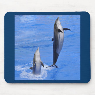 Dolphins jumping out of water mouse pad