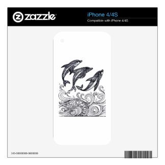 Dolphins Jumping Skins For iPhone 4S