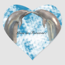 Dolphins Kissing Stickers