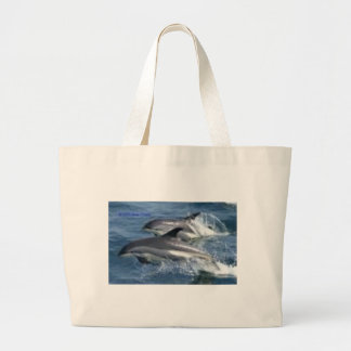 dolphins large tote bag