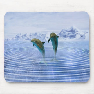 Dolphins make ripples mouse pad