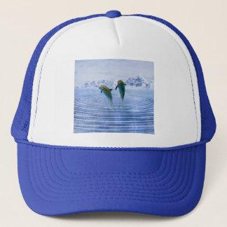 Dolphins make ripples trucker hat