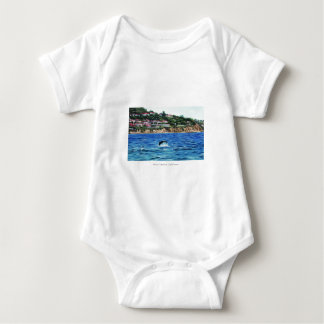 Dolphins Near Palos Verdes Baby Bodysuit