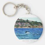 Dolphins Near Palos Verdes Basic Round Button Keychain