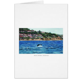 Dolphins Near Palos Verdes Card