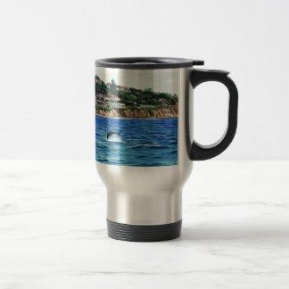Dolphins Near Palos Verdes Travel Mug