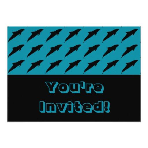 Dolphins Ocean Aquarium Birthday Party Cards