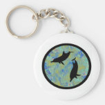 DOLPHINS OF TOMORROW BASIC ROUND BUTTON KEYCHAIN