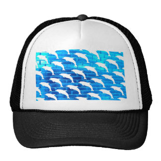 Dolphins on Ice Mesh Hats