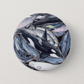 Dolphins, orcas, belugas and narvales pinback button