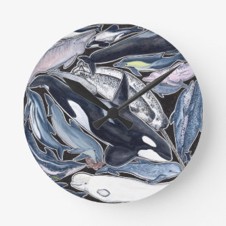 Dolphins, orcas, belugas and narvales round clock