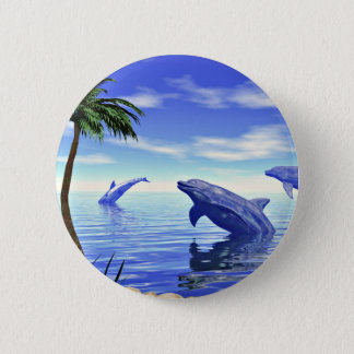 Dolphins Pinback Button