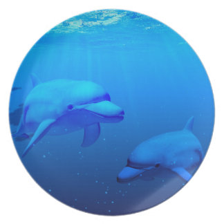 Dolphins Party Plate