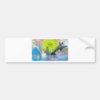 Dolphins playing in paradise bumper sticker