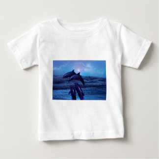 Dolphins playing in the ocean baby T-Shirt