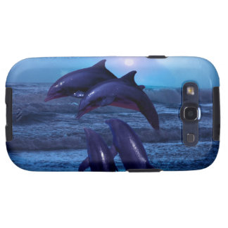 Dolphins playing in the ocean samsung galaxy s3 case