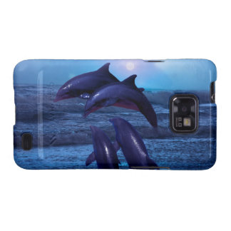 Dolphins playing in the ocean samsung galaxy s2 cover