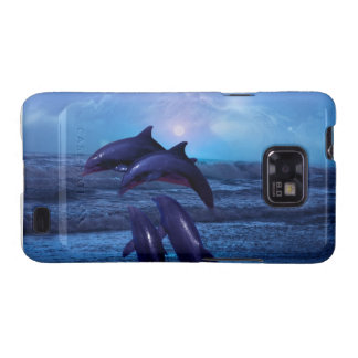 Dolphins playing in the ocean samsung galaxy SII covers