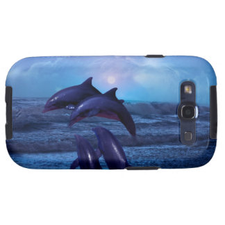 Dolphins playing in the ocean samsung galaxy SIII covers