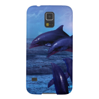 Dolphins playing in the ocean galaxy s5 cases