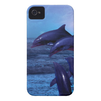 Dolphins playing in the ocean Case-Mate iPhone 4 case