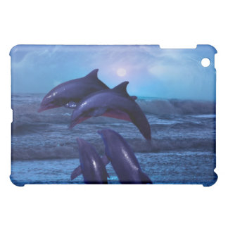 Dolphins playing in the ocean iPad mini case