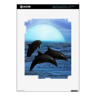 Dolphins playing in the ocean skin iPad 3 decal