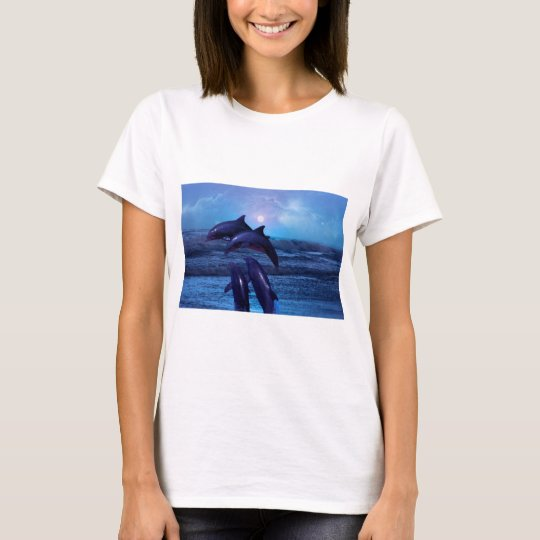 Dolphins playing in the ocean T-Shirt