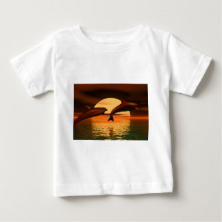 dolphins playing into the sunset t-shirt