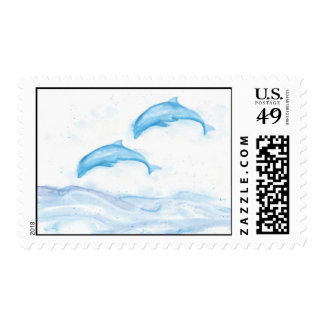 Dolphins Postage Stamp
